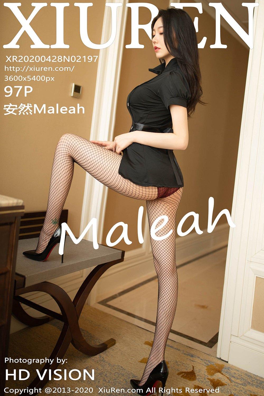 [XiuRen秀人网] 2020.04.28 No.2197 安然Maleah 黑丝制服诱惑写真 [97 1P] -第1张